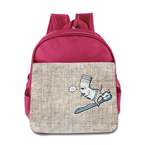 funny-toothpaste-children-kids-lightweight-preschool-backpack-for-boys-and-girls-book-bag-pink