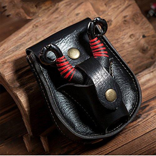 JIOLK スリングショット用 鋼球収納 腰掛け パチンコ玉ケース 大容量 お洒落 パチンコ アウトドア レザー 弾弓 二色の商品画像