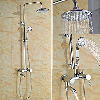 LKNMMF Conjunto de Grifo de Ducha de baño de Lluvia, Conjunto de ...