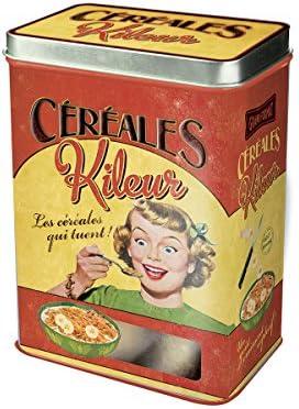 Plaisirs de France Caja para Cereales, Metal, Multicolor, 17x13x23.5 cm: Amazon.es: Hogar