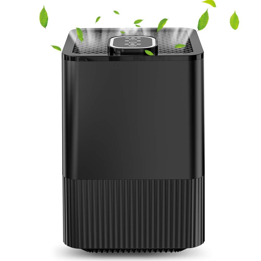 Chugod 5-in-1 HEPA Air Purifier, 3 Speeds Night Light Timer, Eliminates Dust, Pollen, Smoke, Household Odors and More, Perfect for Home Office with 1 Filters