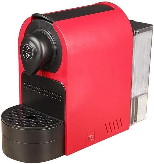 Máquina de café espresso, cafetera de cápsula roja portátil ...