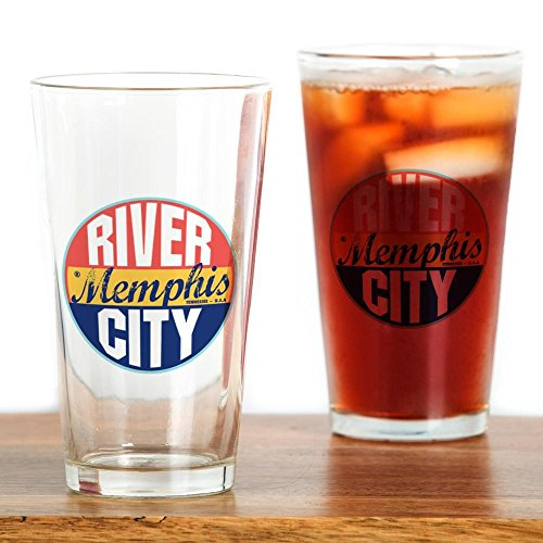 CafePress - Memphis Vintage Label - Pint Glass, 16 oz. Drinking Glass