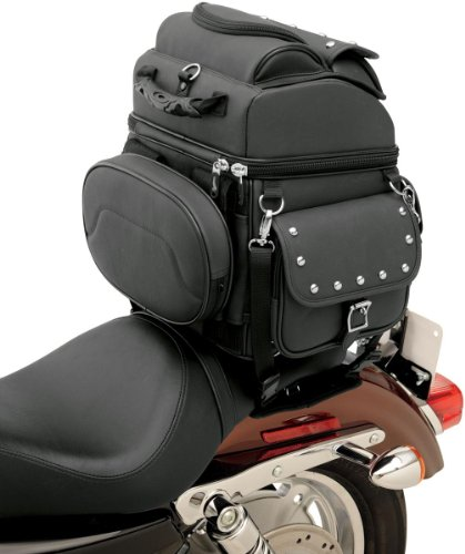 Saddlemen 3515-0119 Combination Backrest/Seat/Sissy Bar Bag with Studs ()