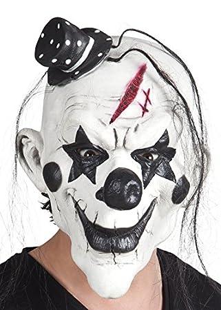 Blanco y Negro de Halloween Máscara de Payaso Asesino