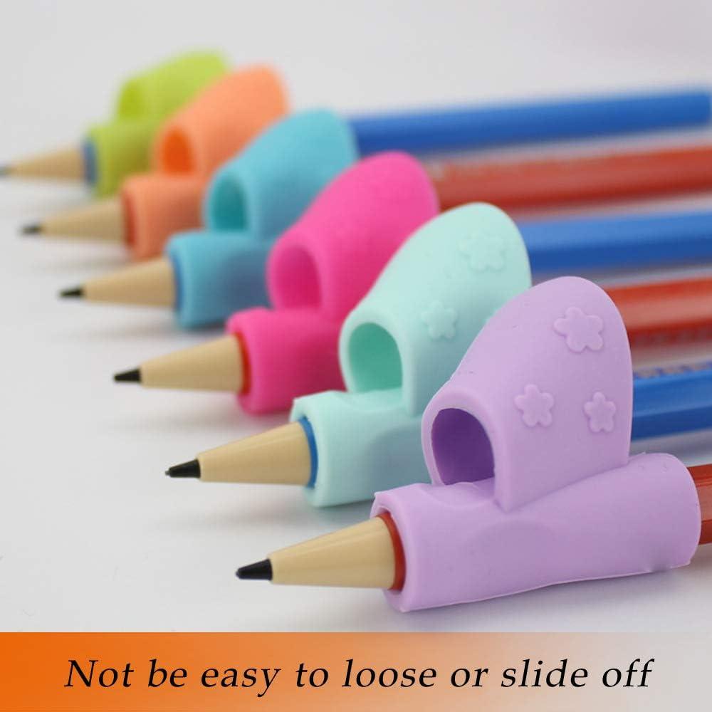 toymytoy 10/pi/èces poign/ée crayon enfants Pencil Grip original aide d/écriture universel ergonomique de /écriture pour droitier et gaucher 25 pz Color casuale