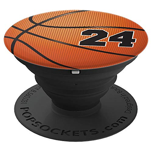 Basketball Fan #24 Jersey No 24 Basketball Pop grips Gift - PopSockets Grip and Stand for Phones and Tablets