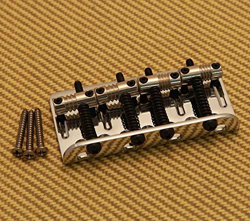 Fender American Deluxe 4-String Bass Bridge Assembly ('04-'10), Chrome