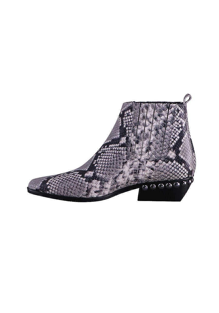 KENNEL&SCHMENGER Stiefel FIBI Leder Reptilprägung Muster Muster Muster grau schwarz 398b0a
