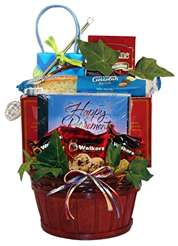 Gift Basket Village Happy Retirement, A Retirement Gift Basket To Celebrate The End Of A Career, Great as a Going Away Gift ()