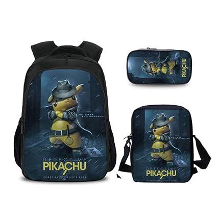 Mochila Pokemon Infantil, Mochila Pikachu De Estudiante ...