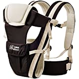 GBlife 4-in-1 Convertible Backpack Baby Carrier with Buckle Mesh Wrap, Comfortable for Newborns and Toddlers - Khaki