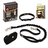 Jollypetz Hands Free Dog Leash with Adjustable Waist Belt, Perfect Dog Hiking Gear and for Walking and Running Hands Free, BONUS Light Pouch Accessory and FREE EBOOK with Exercising and Training Tips