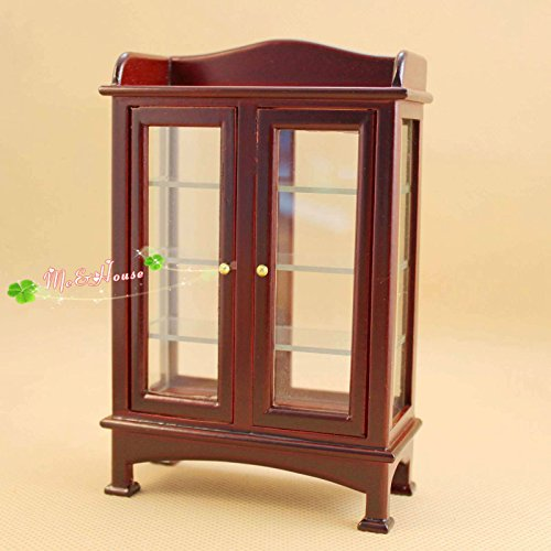 1/12 dollhouse miniature furniture wooden display cabinet - Pepper White Dresser