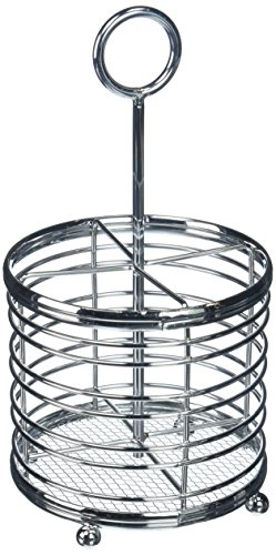 (Spectrum Diversified Contempo Hair and Beauty Caddy/Holder, Chrome)