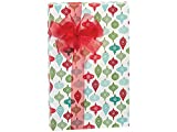 Pack Of 1, 30'' X 417' Vintage Ornaments Christmas Stone Gift Wrap Counter Roll Made In USA