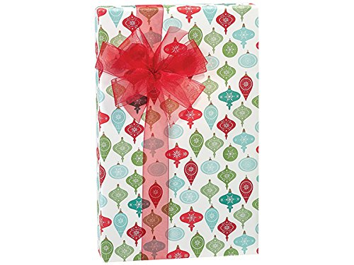 Pack Of 1, 30'' X 417' Vintage Ornaments Christmas Stone Gift Wrap Counter Roll Made In USA by Generic