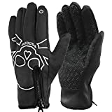 AOHAN Winter Warm Gloves Touch Screen Gloves Windproof Cycling Gloves Cold Weather Texting Gloves for Men Women