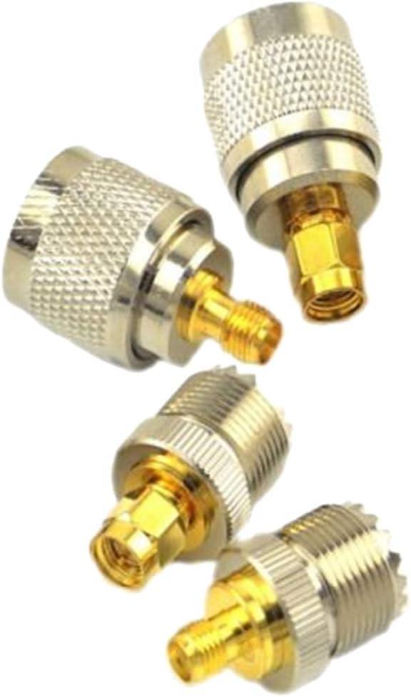 SMA PL-259 Baoblaze 4X Fiche De Test Plaqu/ée Or pour Adaptateur Coaxial Coaxial RF pour Connecteur UMA