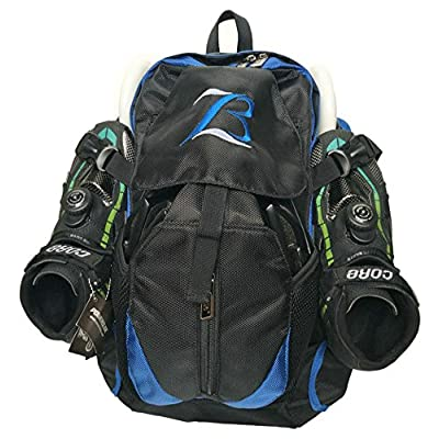 Xiami Leyuan Pro Racing Speed Inline Skates Ice Skate Backpack (Blue) : Sports & Outdoors