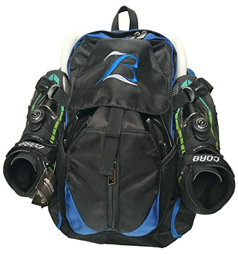 - Xiami Leyuan Pro Racing Speed Inline Skates Ice Skate Backpack (Blue)