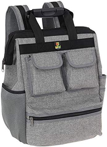 KKmoon 工具用道具袋 ダブルショルダーツールバッグ 多機能 オックスフォード布 工具袋 ツール収納バック