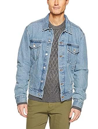 Calvin Klein Men's Classic Trucker Denim Jacket, Bowie Blue, Large