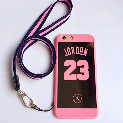 best website d8b54 4494d iPhone 6 Plus and 6S Plus Jordan 23 Case,Reflective Mirror Case Jumpman  Cover with Soft Neck Lanyard.Shockproof Resistant Case for iPhone 6 Plus  and ...