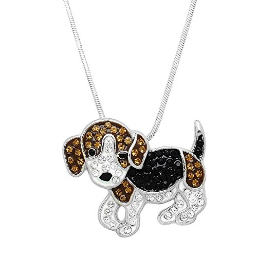 Lola Bella Gifts Hand Painted Beagle Dog Pendant Necklace with Gift Box