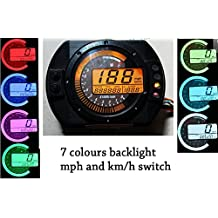 199 km/h 12000 rpm LCD Digital Tachometer Mechanical Speedometer Odometer w mount for Motorcycle Scooter mph / kmh