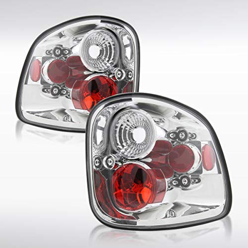 Autozensation For Ford F150 / F150 Heritage Flareside Clear Rear Tail Brake Lights ()