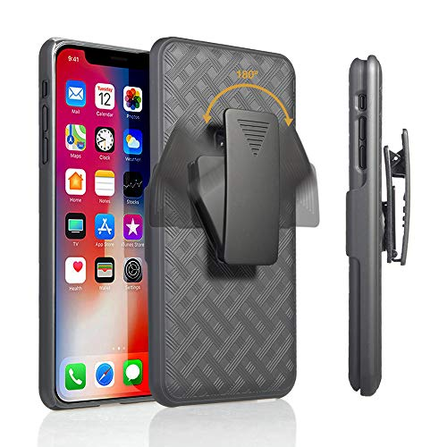 iPhone XR Holster Case, Slim Protective Belt Clip Slider Case (Shell/Holster Combo) with Built-in - Case Slider