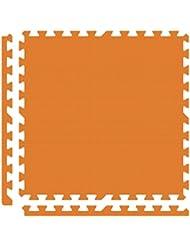 Alessco EVA Foam Rubber Interlocking Premium Soft Floors 18 X 18 Set Orange
