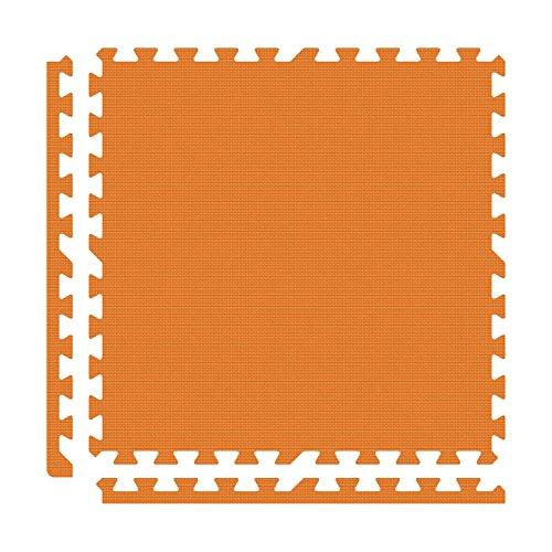 Alessco EVA Foam Rubber Interlocking Premium Soft Floors 30' x 30' Set Orange