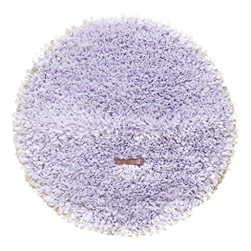 - Bathroom mats Soft and Lovely lace Non-Slip Round Bedside mats (Color : Purple)