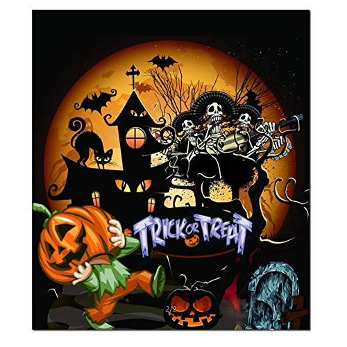(Clearance Sale!UMFun Halloween 5D Painting Embroidery DIY Paint Full Diamond Kit Cross Craft Stitch Home Wall Decor)