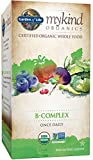 Folic Acid Hair Growth Garden of Life B Complex with Folate - mykind Organic Whole Food Supplement for Metabolism and Energy, 30 Tablets
