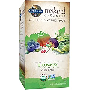Garden of Life B Complex with Folate mykind Organic Whole Food Supplement for Metabolism and Energy, 30 Tablets