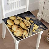 4 Inch Egg Crate Foam Pad Mikihome Dining Chair Pad Cushion raw Organic gen Potatoes in The Wooden Crate on Aged Wood Planks Table Fashions Indoor/Outdoor Bistro Chair Cushion 22