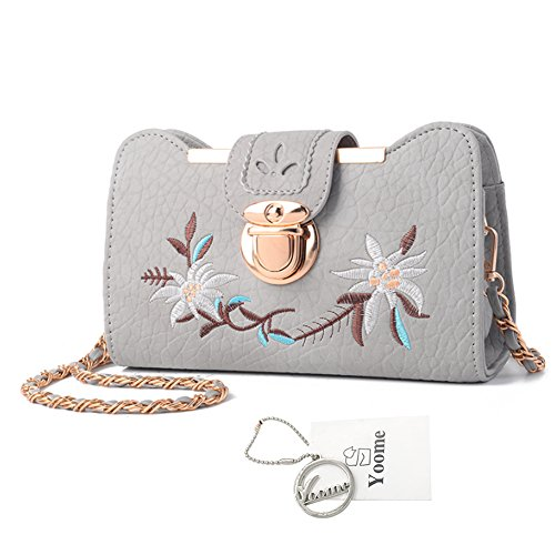 Yoome Retro Emroidery Ketten Bag Vintage Taschen für Frauen Crossbody Makeup Pouch Bag College Taschen für Mädchen