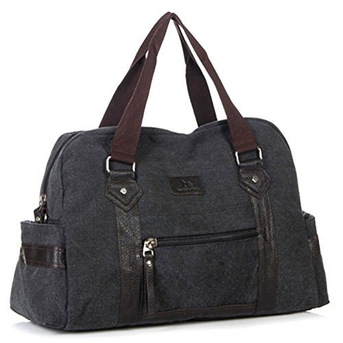 Viaggio Uomo Tela De Borse Nero Capacità Business Donna Nclon marrone Bag Shoulder Grande Borsa qH0BtB