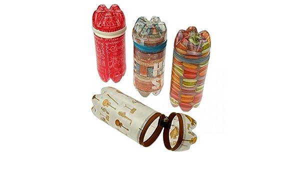 Caja de reciclados de botellas de PET - con cremallera - Comercio Justo - Estuche, tarro de O Desayuno box: Amazon.es: Hogar