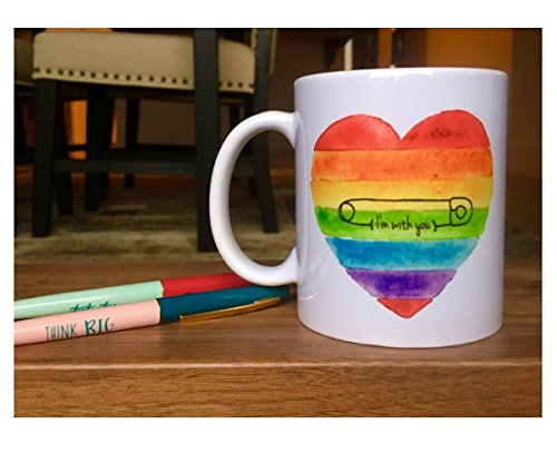 Starbucks Diy Costume (Safety Pin Mug // Safety Pin Movement // Safety Pin // Love Trumps Hate // Safe Place // Safe with me // I'm with you // Coffee Mug // LGBT)