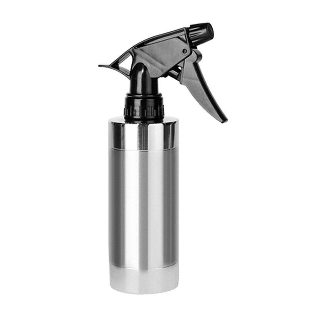 Leagway Water Spray Bottle, 304 Stainless Steel 280ml Hand Pressing Watering Pot Water Sprinkler Sprayer Bottle Watering Can for Indoor Outdoor Garden Plants Flower Hair Salon Hairdressing (280ml)