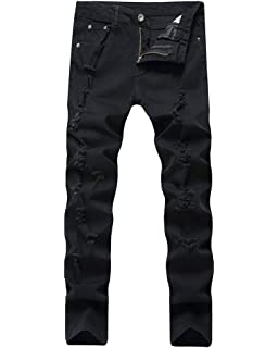 ShiFan Herren Hose Jeans Jeanshosen Destroyed Stretch Freizeithose ... 65949cd229