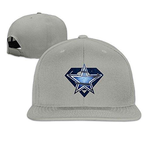 LINNA Custom Unisex Super Dallas Diamond Logo Team Flat Brim Hip Hop Visor Cap Ash