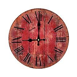 American country living room wall clock watch European fashion creative minimalist clock quartz pocket watch large wooden wall clock