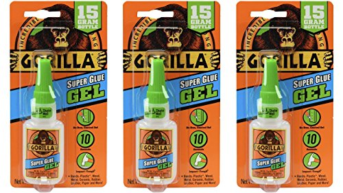 Amazon.com: Gorilla Super Glue Gel, 15 Gram, Clear, (3 Pack): Home Improvement