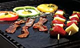 Nonstick BBQ Grill Mat - Perfect for Charcoal, Electric and Gas Grill - Reusable, Easy to Clean - Set of 3 Mats - Essential Grilling Accessories for Home Cooks and Grillers-16 x 13 Inch