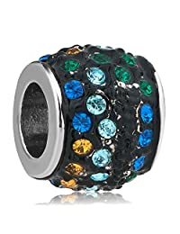 Birthstone Charms Colorful Crystal Charm Beads Sale Cheap Jewelry Fit Pandora Charms Bracelets